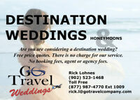 Brides can go free!* Destination Weddings
