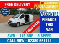 VAUXHALL VIVARO 2700 CDTI SWB 115 BHP 6 SPEED 3 SEATS