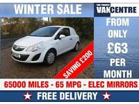 VAUXHALL CORSA VAN 1.3 CDTI 65 MPG LIGHT USE GREAT VALUE WAS £3370 SAVE £200