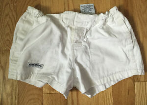 Women's White Rugby Shorts