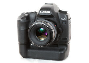 Canon 5D Mark II with 50mm f1.4 lens and Battery Grip