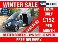 FORD TRANSIT 350 LWB HIGH ROOF 125 BHP HEATED SCREEN 6 SPEED 3 SEATS