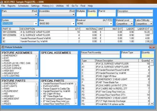 Electrical Estimating Software: ACES Pro 12 month subscription (24.95 per month)