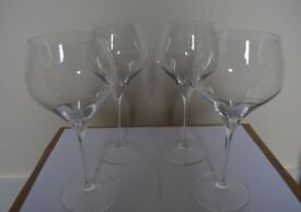 RIEDEL BURGUNDY GLASSES , 4 for £25. Immaculate