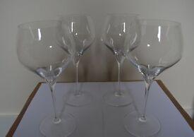RIEDEL CHARDONAY , CAB/SAUV GLASSES x 4