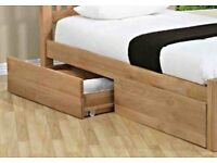Under bed storage drawers (2 of Solid oak, NOT laminated)