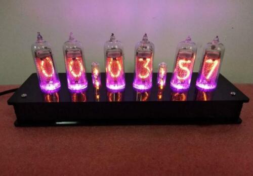 DIY in14 Nixie Tube shell&PCBA kit digital LED clock beautiful gift,No tubes