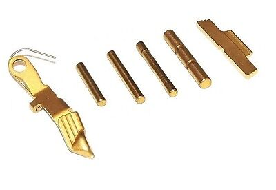 Release Finish (TiN Coated  6 Piece Extended Control Kit, FOR GLOCK GEN 4 Gold)