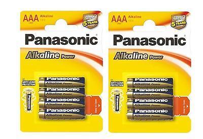 8 Pilas Panasonic 1,5V AAA alkalinas power LR03 - Envio desde España