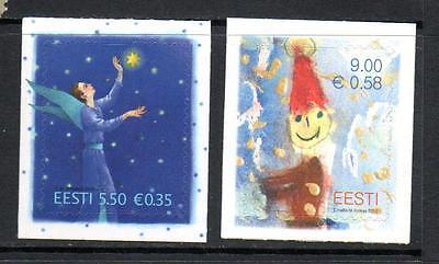 ESTONIA MNH 2010 SG633-634 CHRISTMAS