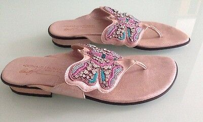 Donald J Pliner Beaded Butterfly Thong Sandals, Size 9.5 ()
