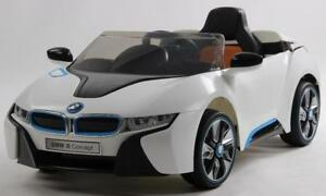 Licensed 12V BMW I8 Deluxe Baby / Kid / Child Ride-On Car with Leather Seat, 2.4Ghz Special Parent Remote Controller,