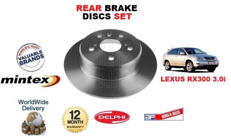 FOR LEXUS RX300 3.0i  2000-2003 New MINTEX REAR BRAKE DISCS SET (2)