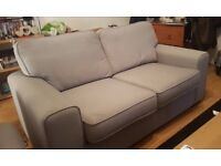 2 light grey sofas for sale!! 3 seater and 2 seater