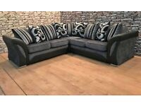 💯🔥💥SALE OFFER💯👉ON SHANNON BLACK AND GREY SOFA AVAILABLE IN MY STOCK
