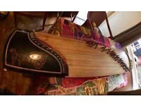 Guzheng 21 string Chinese Harp Zither plucked world instrument. Good used vintage condition Gu Zheng