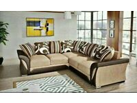 FREE DELIVERY -- SHANNON CRUSH (CORNER SOFAS OR 3+2 SOFA SET) NOW
