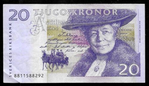 World Paper Money - Sweden 20 Kronor 2008 P63c @ VF Cond. Ref.# 292