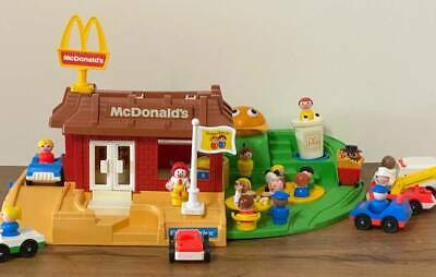 Vintage Fisher Price Little People McDonalds #2552 Extras  FOOD🍔🍟🥤Huge Lot