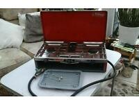 camping table top double gas stove