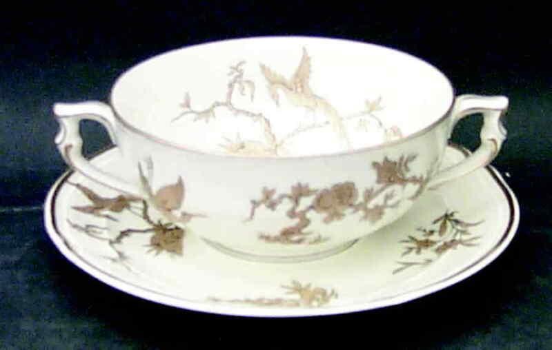 Bernardaud Reine Elizabeth Cream Soup & Saucer 2329996