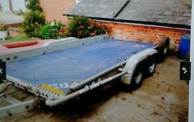 """BRIAN JAMES TWIN AXLE TILT BED RECOVERY CAR TRAILER (14' X 6'3"""" BED)WITH WINCH"""
