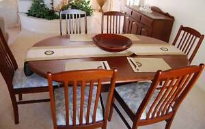 Solid Jarrah Formal Dining Suite (Table, 6 seats and buffet) Mount Claremont Nedlands Area Preview