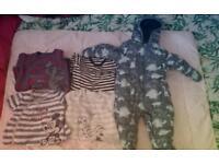 baby boys 6-9 snowsuit winter sleep bundle