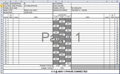 Electrical Panel Scheduler Software