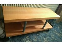 Large TV Stand with Castors