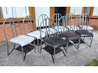 Around 85 Left Fantastic Stacking Chairs Metal & Vinyl - UK Delivery