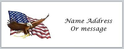 Personalized Return Address Labels US Flag Buy 3 get 1 free (a3)