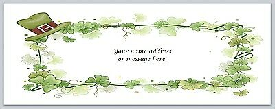 30 Personalized Return Address Labels Clover Buy 3 get 1 free (bo -