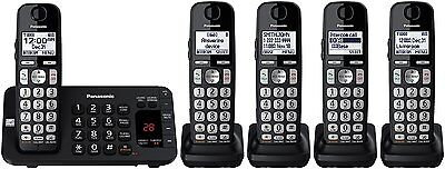 Panasonic KX-TGE445B Expandable Cordless Phone System with Answering Machine for sale  Shipping to Nigeria