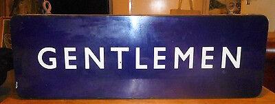 "British Railways Eastern Region Double Sided Enamel Sign "" GENTLEMAN """
