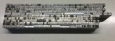 Caslon Italic Bold 12 Point Letterpress Type Caps Lower Case Punctuation Print