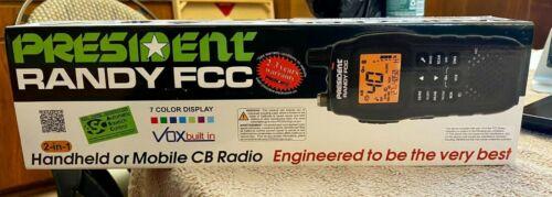 President RANDY 40-channel 2-in-1 Handheld or Mobile CB Radio BRAND NEW
