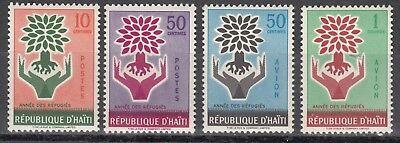 Haiti Nr. 599-602** Weltflüchtlingsjahr 1960