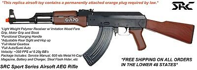 SRC Sport Series Full Stock Airsoft AEG Rifle w/ Metal Gearbox, Battery, Charger