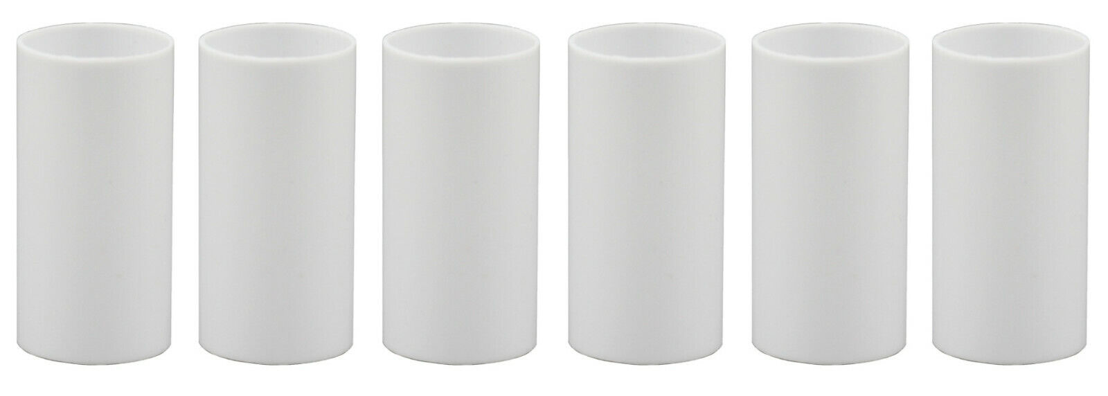 1 3/4 Inch White Plastic Candle Cover For Candelabra Base Lamp Sockets 6 Pieces Collectibles