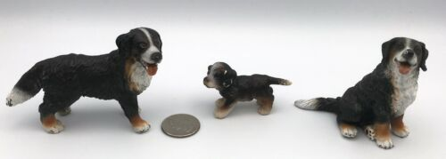 Schleich BERNESE MOUNTAIN DOG FAMILY Adults Puppy Figures Retired 16316 16344