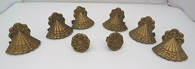Set of Vintage Cast Metal Drawer Handles in the Art Deco Style