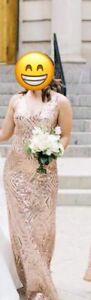 Rose gold sequin dress - size small $80