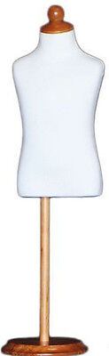 Mn-195 White Toddler Child Dress Form Mannequin Adjustable Wood Stand Size 4c