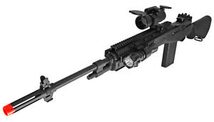 M160-B2 M14 M1 Sniper Bolt Action Spring Airsoft Rifle Black w/ BB's & Scope NEW