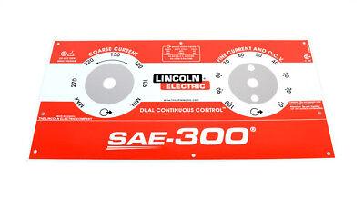 Oem Lincoln Sae-300 Nameplate L15885 Codes 11645 11916 12090 Bw328