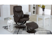 LA-Z-BOY LAZYBOY RONDELL SWIVEL RECLINING CHAIR ONLY - HIGH GRADE LEATHER