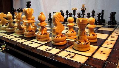 Schach Wunderschönes Schachspiel PEARL 34x34 cm Holz