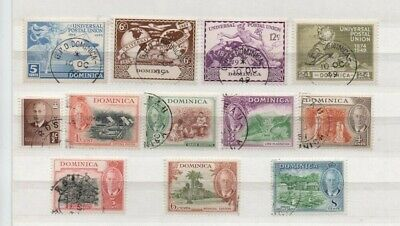 A very nice Dominica George VI group with UPU issues