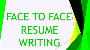 Face to Face CV, Resume Writing- Fast Response Parramatta Parramatta Area Preview